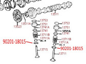 Toyota Valve Spring Seat Washer 90201-18015