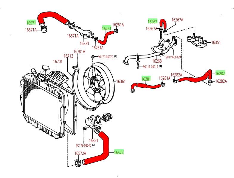 3vze vacuum line diagram hose kit toyota v6 3 0l 3vz e 4runner   pickup truck coolant  hose kit toyota v6 3 0l 3vz e 4runner