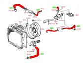 Hose Kit- Toyota V6 3.0L 3VZ-E 4Runner & Pickup Truck Coolant Hose Kit (1989-1992) Kit-1080