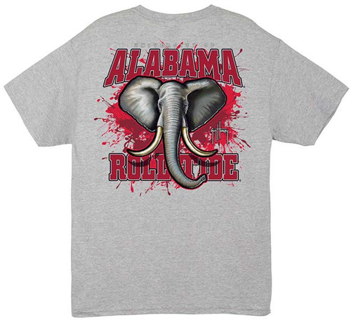 Crimson Tide Also Available in Long Sleeve (Athletic Heather Shirt)