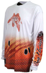 Guy Harvey  Redfish Pro UVX Performance Long Sleeve Shirt in White