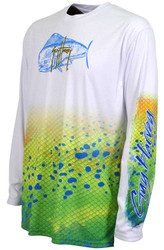 Guy Harvey  Dorado Pro UVX Performance Long Sleeve Shirt in White
