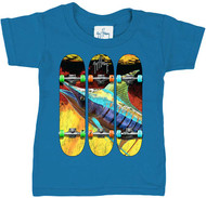 Guy Harvey Tailslide Toddler Tee Shirt in Turquoise