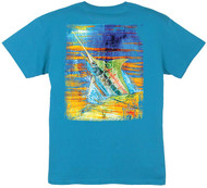 Guy Harvey Panama Blue Boys Tee in Yellow or Turquoise