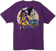 ECU Pirates Also Available in Long Sleeve (Purple Shirt)