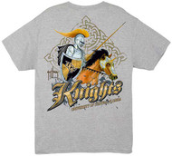 Guy Harvey Central Florida Knights Back-Print Pocketless Men's Tee in Black, White or Athletic Heather