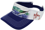 Guy Harvey Bullitt Cotton Twill Visor in Navy