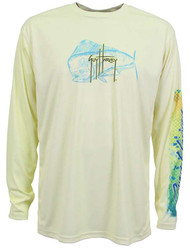 Guy Harvey Mahido Pro UVX Performance Long Sleeve Shirt in Yellow