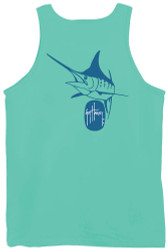 Guy Harvey Marlin Logo Back-Print Men's Tank Top in Celadon