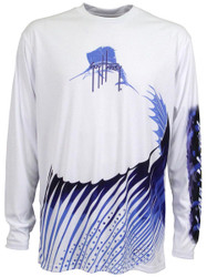 Guy Harvey Sailfish Pro UVX Performance Long Sleeve Shirt in White