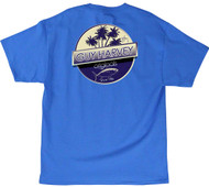 Guy Harvey Tuna Boat Men's Back-Print Tee, w/Pocket, in Ocean Blue, White and Mint