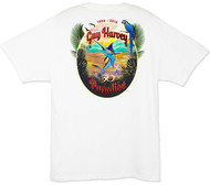 Guy Harvey Paradise Men's Back-Print Tee w/ Pocket in White