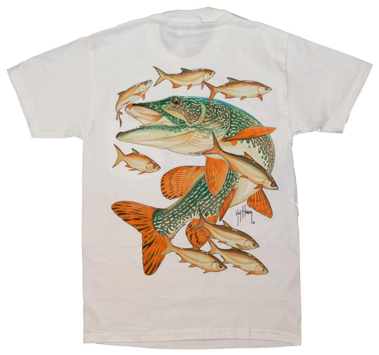 Guy Harvey Northern Pike Back Print T Shirt