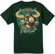 Guy Harvey South Florida Bulls Back-Print Pocketless Men's Tee in Green or White