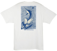 Guy Harvey  Moonlight Etching Back-Print Tee, w/Pocket, in Orange or White