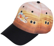 Guy Harvey Black Dot Sublimated Poly Hat in Black