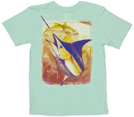 Guy Harvey Dusk Dri-Release Men's Short Sleeve Tee in Marine