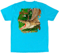 "Guy Harvey ""The Marsh Boy"" Boys Tee in Neon Sky Blue Heather"