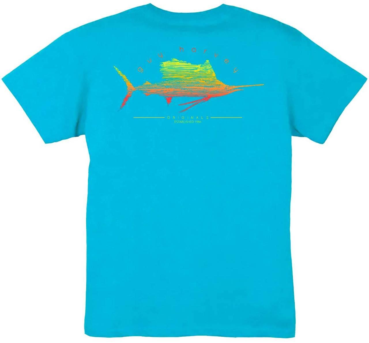 fac5b2de Guy Harvey Sailfish Scribble Boys Tee in Reef Blue. $15.00. Image 1. See 1  more picture