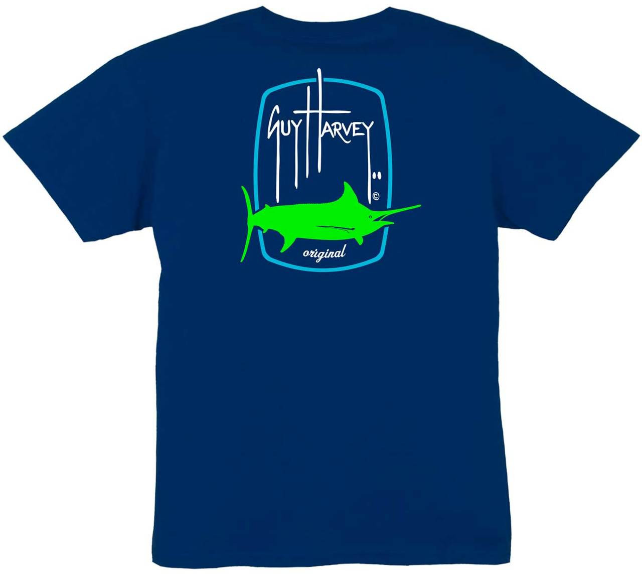9852acda Guy Harvey Barrel Logo Boys Tee in Deep Blue or Lava. $15.00. Image 1. See  2 more pictures