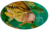 Guy Harvey Largemouth Bass Domed Sticker
