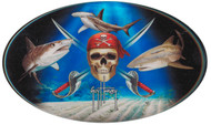 Guy Harvey  Pirate Shark Domed Sticker