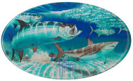 Guy Harvey  Tarpon & Shark  Domed Sticker