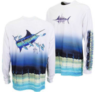 Guy Harvey  Marlin Pro UVX Performance Long Sleeve Shirt in White