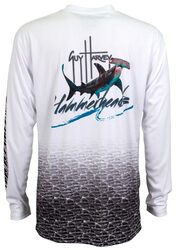 Guy Harvey  Hammerhead Pro UVX Performance Long Sleeve Shirt in White