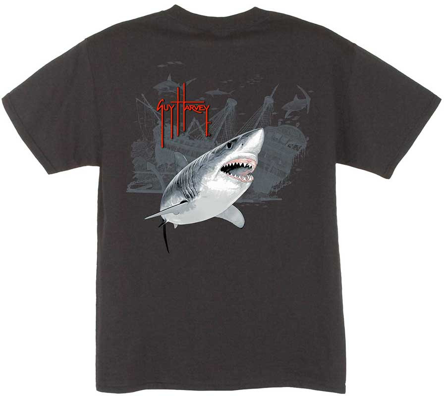 e4d188de Guy Harvey Pirate Shark 3 Boys Tee Shirt in Red, White, Black, Turquoise or  Yellow. $15.00. See 5 more pictures