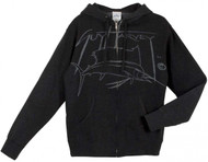 Guy Harvey Sailfish Harvey Young Men's Front & Back-Printed Fleece Hoodie in Charcoal Heather