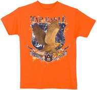 Guy Harvey Auburn War Eagle Boys Tee Shirt in Orange