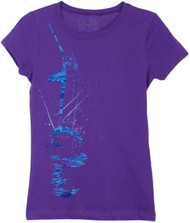 Guy Harvey Jumping Swordfish Little Girls Tee Shirt in Purple