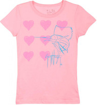 Guy Harvey I Love Guy Harvey Little Girls Tee Shirt in Pink