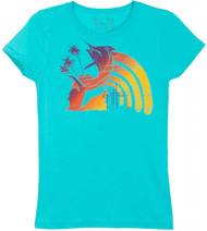 Guy Harvey Bright Rainbow Little Girls Tee Shirt in Tahiti or Purple