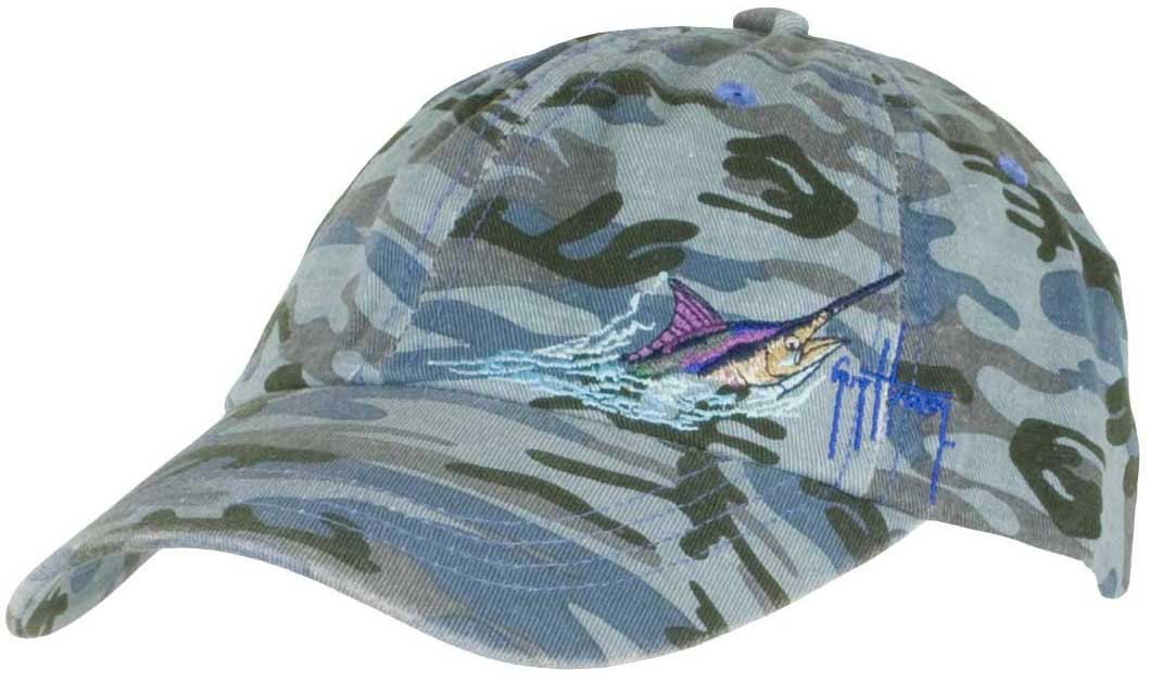 5c073bdf3e3 Guy Harvey Marlin Head Camo Ladies Hat in Blue Camo or Pink Camo.  20.00.  Image 1. See 1 more picture