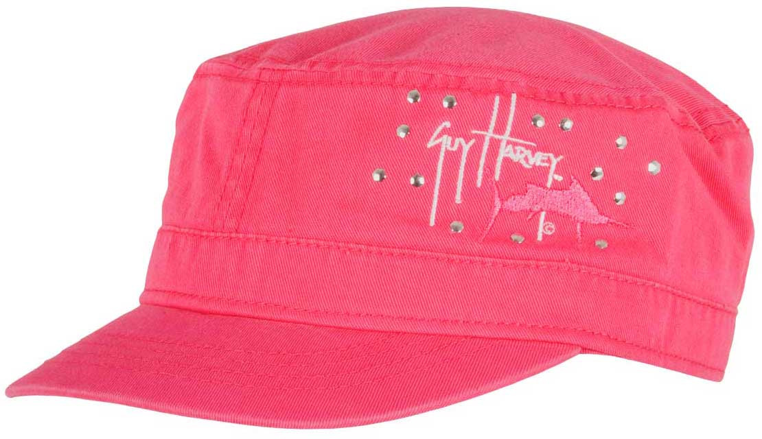 0e5b9dabcf1 Guy Harvey South Beach Military Ladies Hat in Hot Pink or Turquoise.   24.00. Image 1