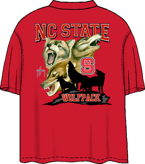 NCS Wolfpack Also Available in Long Sleeve (Red Shirt)