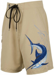 Guy Harvey Marlin Dive Fisherman's Board Short in Blue, Navy or Khaki