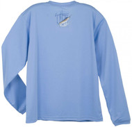 Guy Harvey GH Blue Long Sleeve Performance Tee Shirt in White, Blue, Khaki, Yellow, Orange, Navy or Silver