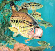 Guy Harvey 550-Piece Jigsaw Puzzle Largemouth Bass
