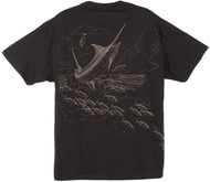 Guy Harvey The Chase Men's Front & Back-Print Tee in Black, Cardinal or Seaweed Green