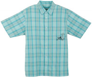 Guy Harvey Plaid Buttondown Shirt in Turquoise, Brown or Red