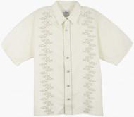 Guy Harvey Yellowfin Stripe Woven, Aloha-Style Shirt in Natural