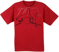 Guy Harvey Harvey-Shark Youth Premium Tee in Scarlet or Charcoal