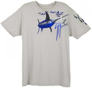Guy Harvey Swordfish Snack Young Man's Tee in Silver