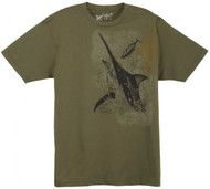 Guy Harvey Marlin GH Young Man's Tee in Army