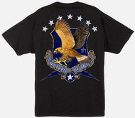 Guy Harvey U.S. Air Force Men's Back-Print Tee w/ Pocket in White or Black