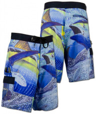 Guy Harvey Strike Fisherman's Board Short in Blue