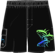 Guy Harvey Three Amigos Men's Swim Suit  in Black